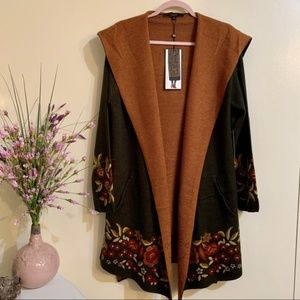 Max Sport Long Cardigan Sweater Duster size L